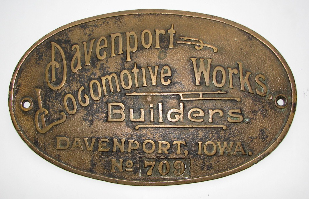Climax  			Builders Plate
