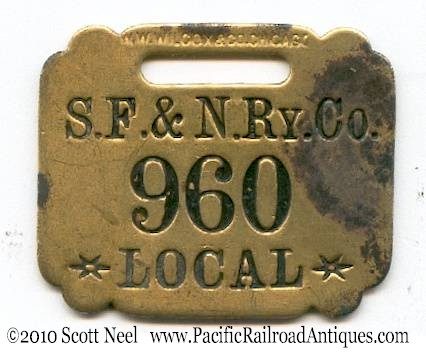 Railroad baggage tag