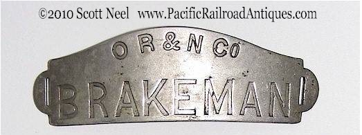 Oregon Railroad badge