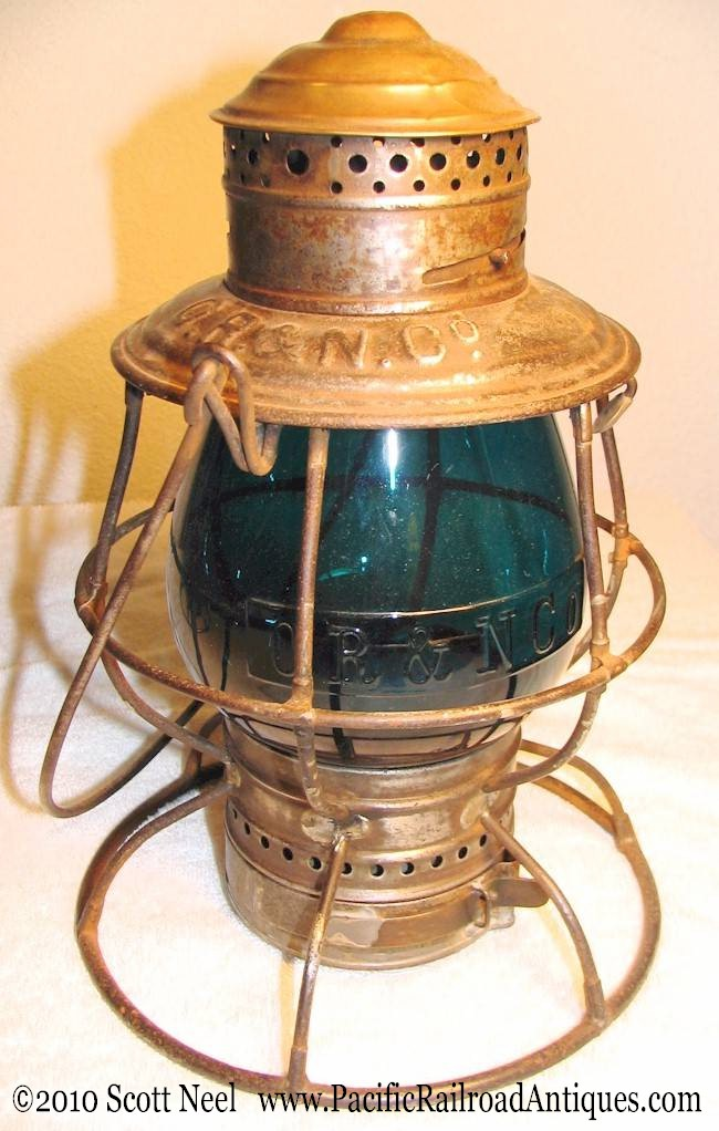 Railroad lantern Brass top